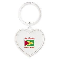 My Identity Guyana Heart Keychain