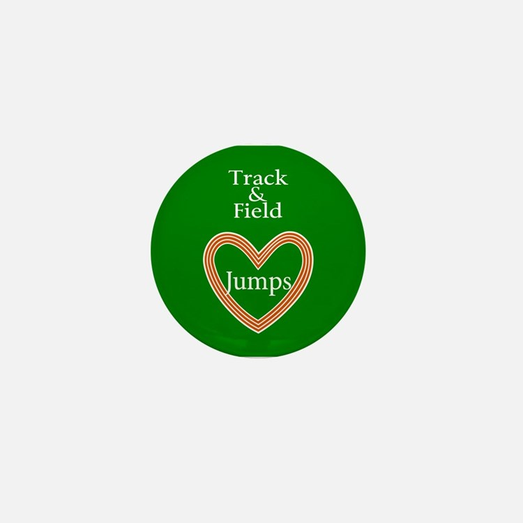 Track and Field Love Jumps Mini Button