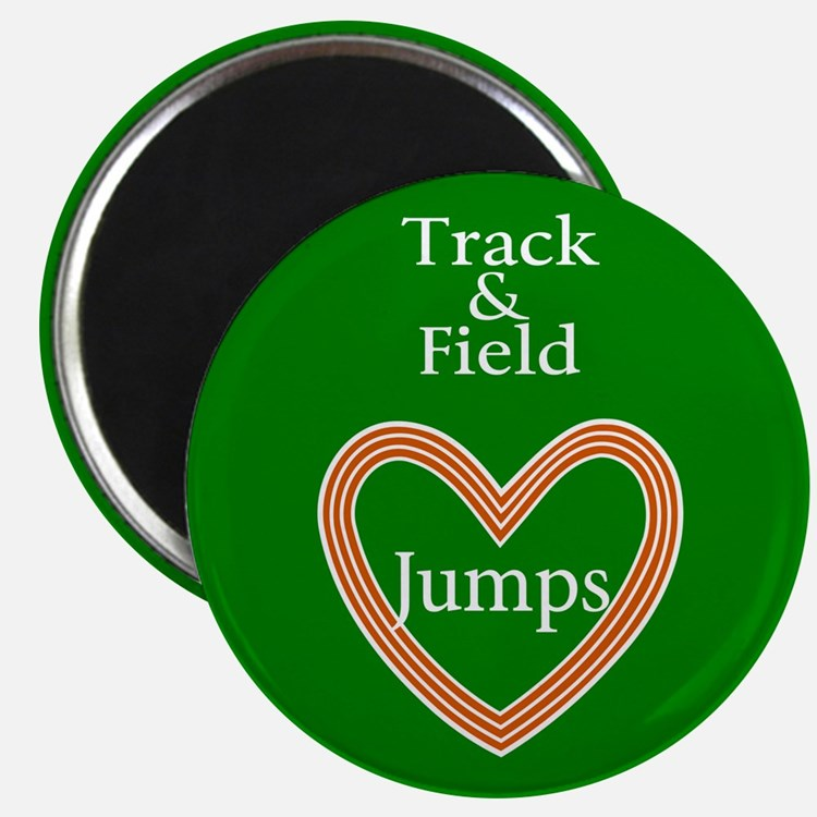 Track and Field Love Jumps Magnet