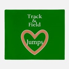 Track and Field Love Jumps Throw Blanket