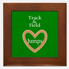 Track and Field Love Jumps Framed Tile