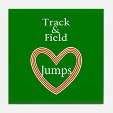 Track and Field Love Jumps Tile Coaster