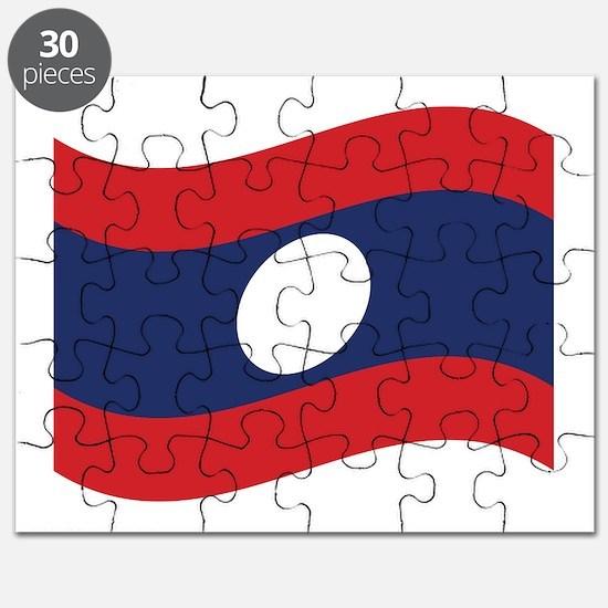 Laos Lao Flag Wave Puzzle