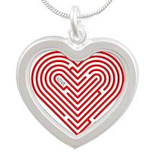 I Love Nola Silver Heart Necklace