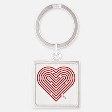 I Love Nora Square Keychain