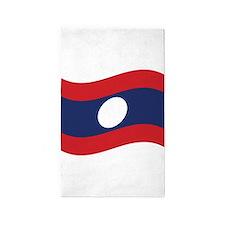 Laos Lao Flag Wave 3'x5' Area Rug