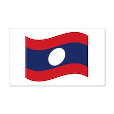 Laos Lao Flag Wave Wall Sticker