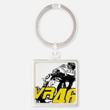 VR46bike4 Square Keychain