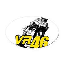 VR46bike4 Oval Car Magnet
