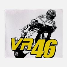VR46bike4 Throw Blanket
