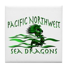 Pacific Northwest Dragons Tile Coaster