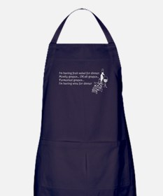 Wine For Dinner Apron (dark)