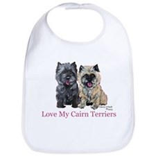 Love my Cairn Terriers Bib