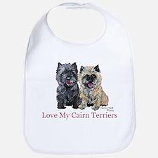 Love my Cairn Terriers Bib