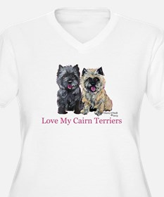 Love my Cairn Terriers Plus Size T-Shirt