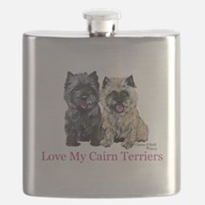 Love my Cairn Terriers Flask