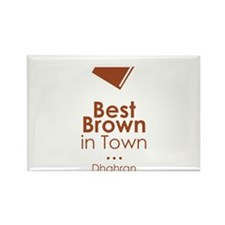 best brown in town Rectangle Magnet