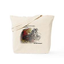 The Real Fun Begins Dirt Bike Motocross Tote Bag