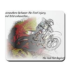 The Real Fun Begins Dirt Bike Motocross Mousepad
