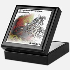 The Real Fun Begins Dirt Bike Motocross Keepsake B