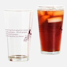 Wine For Dinner Drinking Glass