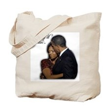 Unique 2008 michelle and obama Tote Bag