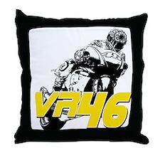 VR46bike3 Throw Pillow