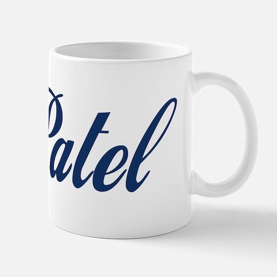 Patel name (blue) Small Mug