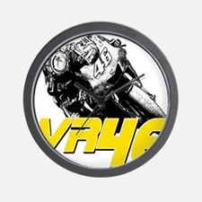 VR46bike2 Wall Clock