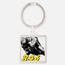 VR46bike1 Square Keychain