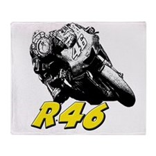 VR46bike1 Throw Blanket