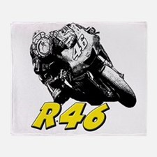 VR46bike1 Throw Blanket