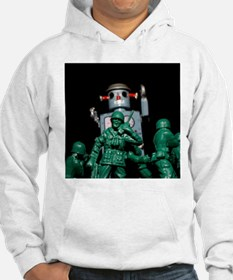 Army men and Giant Robot. Hoodie