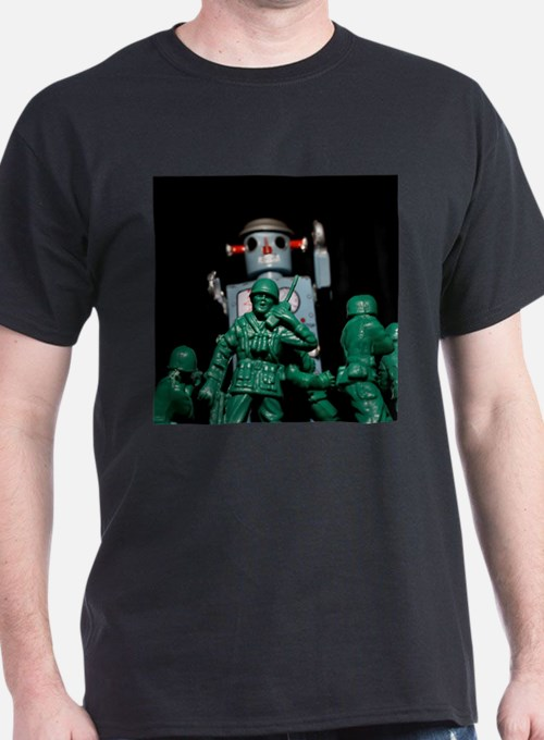 Army men and Giant Robot. T-Shirt