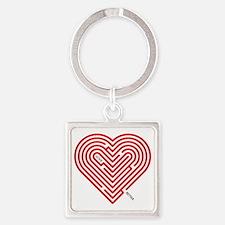 I Love Reyna Square Keychain