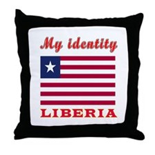 My Identity Liberia Throw Pillow