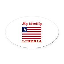 My Identity Liberia Oval Car Magnet