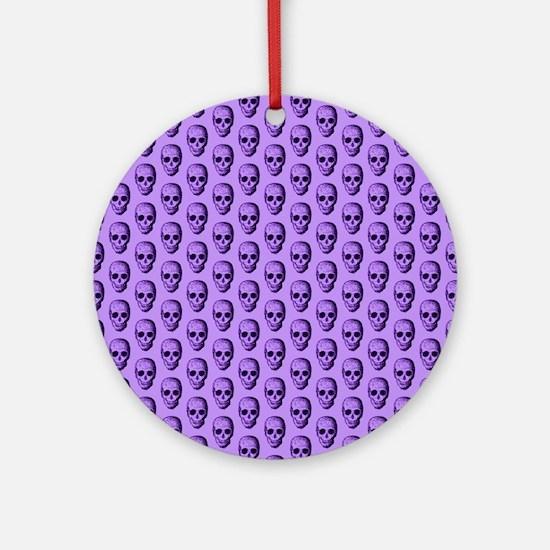 Purple Skull Pattern. Ornament (Round)