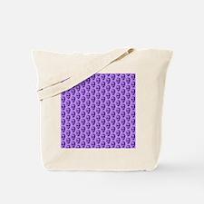 Purple Skull Pattern. Tote Bag