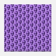 Purple Skull Pattern. Tile Coaster