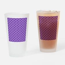 Purple Skull Pattern. Drinking Glass