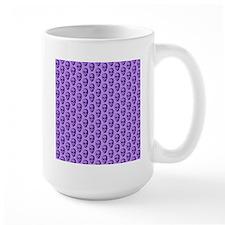 Purple Skull Pattern. Mug