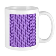 Purple Skull Pattern. Mug