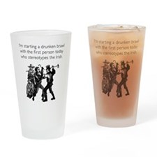 Drunken Brawl Drinking Glass