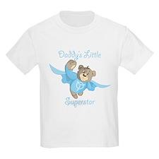 Cute Teddy Bear Daddy's Superstar Design T-Shirt