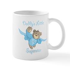 Cute Teddy Bear Daddy's Superstar Design Mug