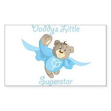 Cute Teddy Bear Daddy's Superstar Design Decal