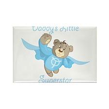 Cute Teddy Bear Daddy's Superstar Design Rectangle