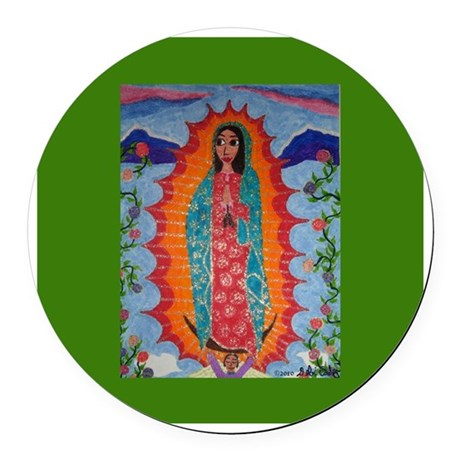 Our Lady of Guadalupe Round Car Magnet