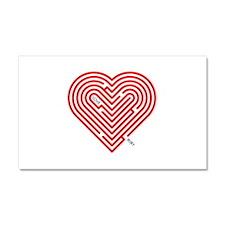 I Love Ruby Car Magnet 20 x 12